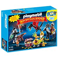 Playmobil 5493 - Calendario dell'Avvento, Battaglia per il Tesoro del Drago, Multicolore