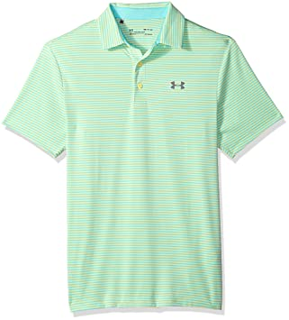 Under Armour Mens Playoff Polo, Tropical Tide (451)/Zinc Gray, XX ...