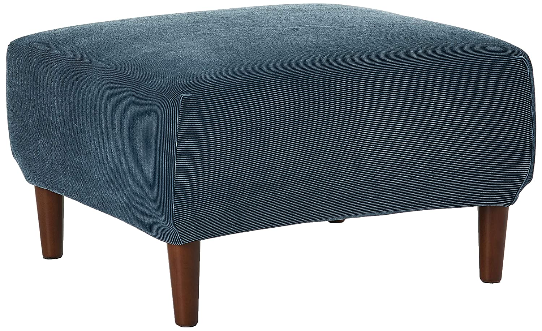 Groovy Surefit Stretch Stripe Ottoman Slipcover Navy Ncnpc Chair Design For Home Ncnpcorg