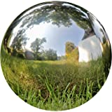 WHW Whole House Worlds Crosby Street Stainless Steel Gazing Ball for Garden and Home, 13 3/4 Inches in Diameter