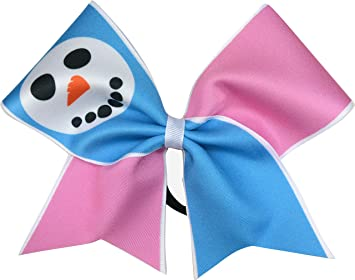 sparkle bows cheer christmas cheer bow snowman face