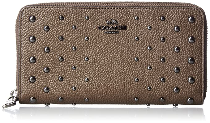 37b0abcd5bd Image Unavailable. Image not available for. Color: Coach Accordion Ladies  Small Leather Zip Wallet 56538DKLIQ