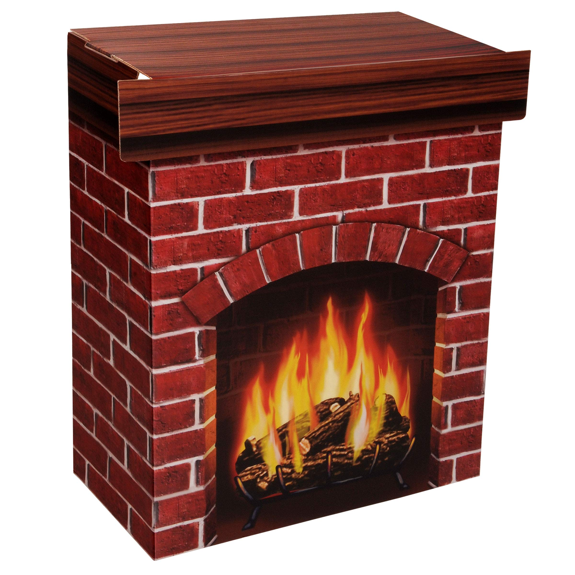 Beistle S18532V Fire Place 3-D Prop, 30'' x 25'' by Beistle