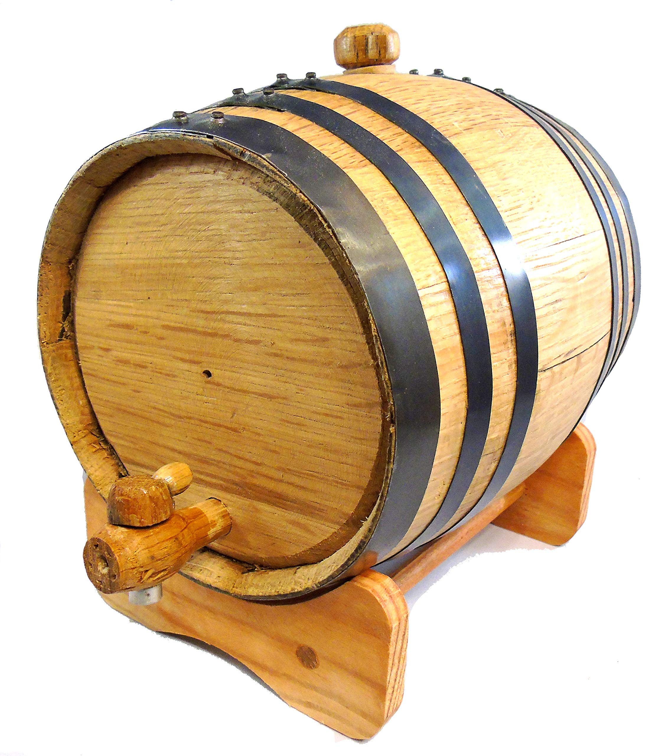 Premium Charred American Oak Aging Barrel - No Engraving (2 Liter) by Red Head Barrels