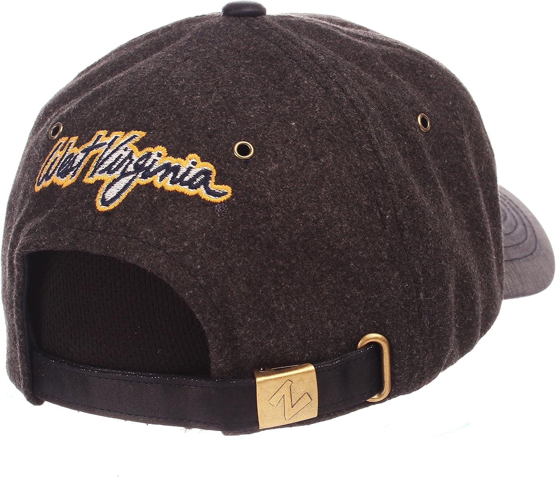 Adjustable NCAA Zephyr West Virginia Mountaineers Mens Alum Heritage Collection Hat Heather Gray