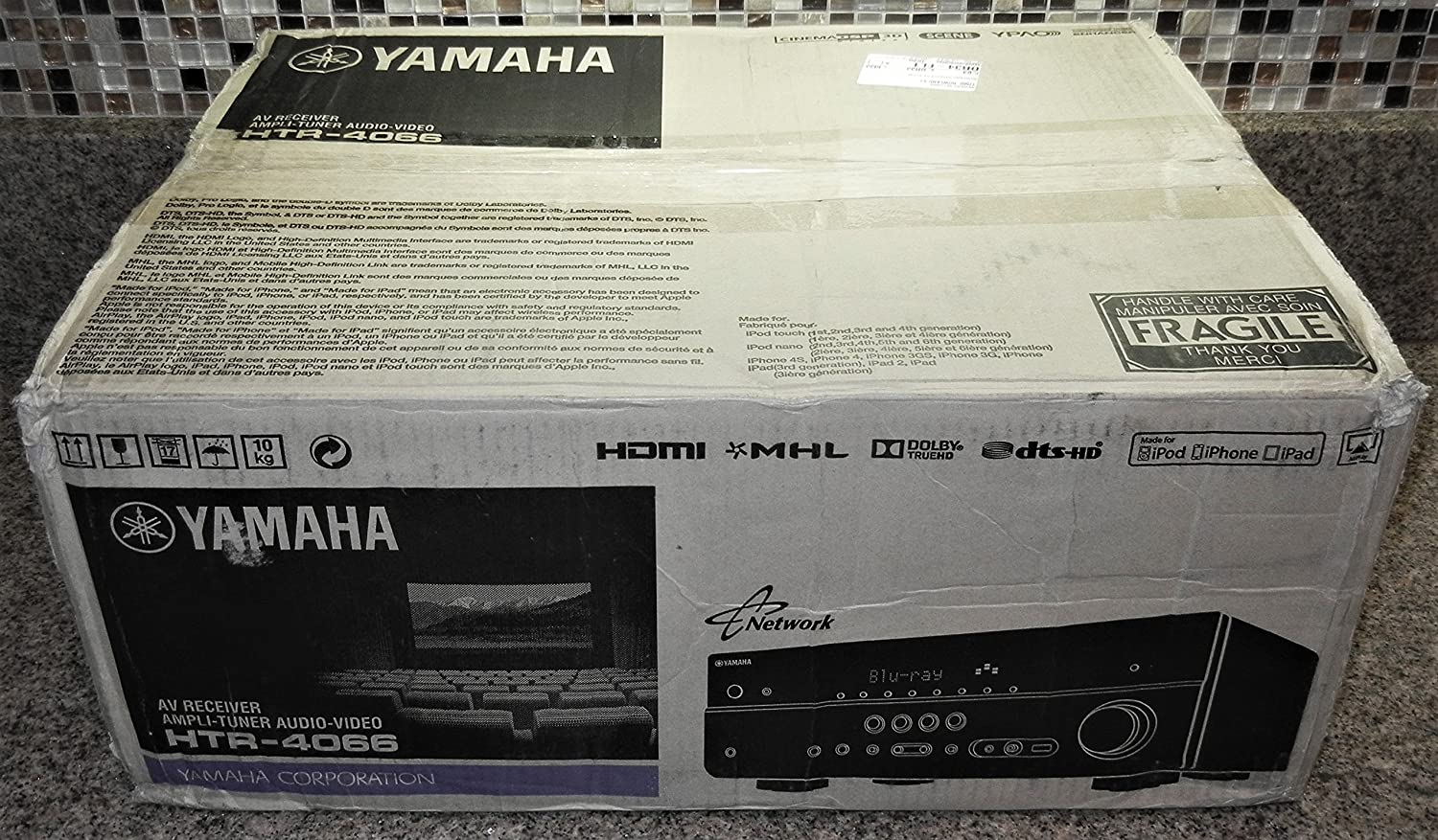 Amazon.com: Yamaha HTR-4066BL 5.1-Channel 575-Watt Audio/Video Receiver,  Black: Home Audio & Theater