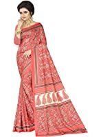 e-VASTRAM Womens Crepe Printed Art Silk Saree(V3128_Multi)