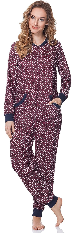 Merry Style Pijamas Enteros Mono Pijama Ropa de Dormir Mujer MS10-175: Amazon.es: Ropa y accesorios
