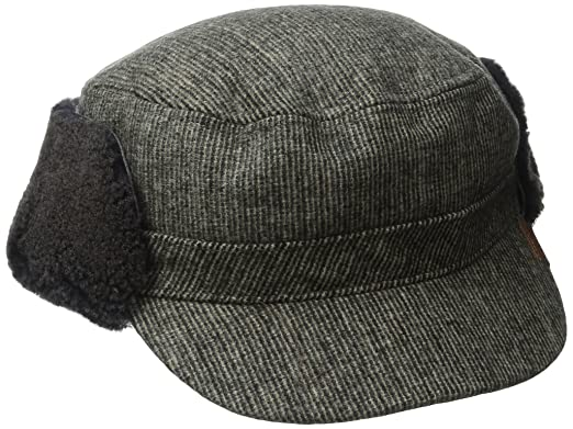 Kangol Mens Shearling Trapper, Gray, Small