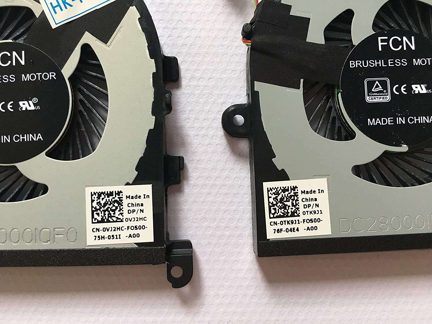 HK-part Replacement Fan for Dell XPS 15 9560 CPU+GPU cooling Fan 2