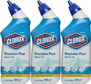 Clorox Precision Pour Bleach Gel, Original Scent, 24 Ounces, Pack of 3