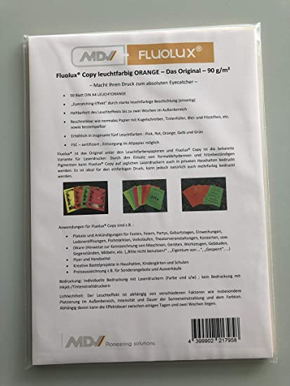 Fluolux® Copy Amarillo - Naranja Brillante Papel - El Original ...