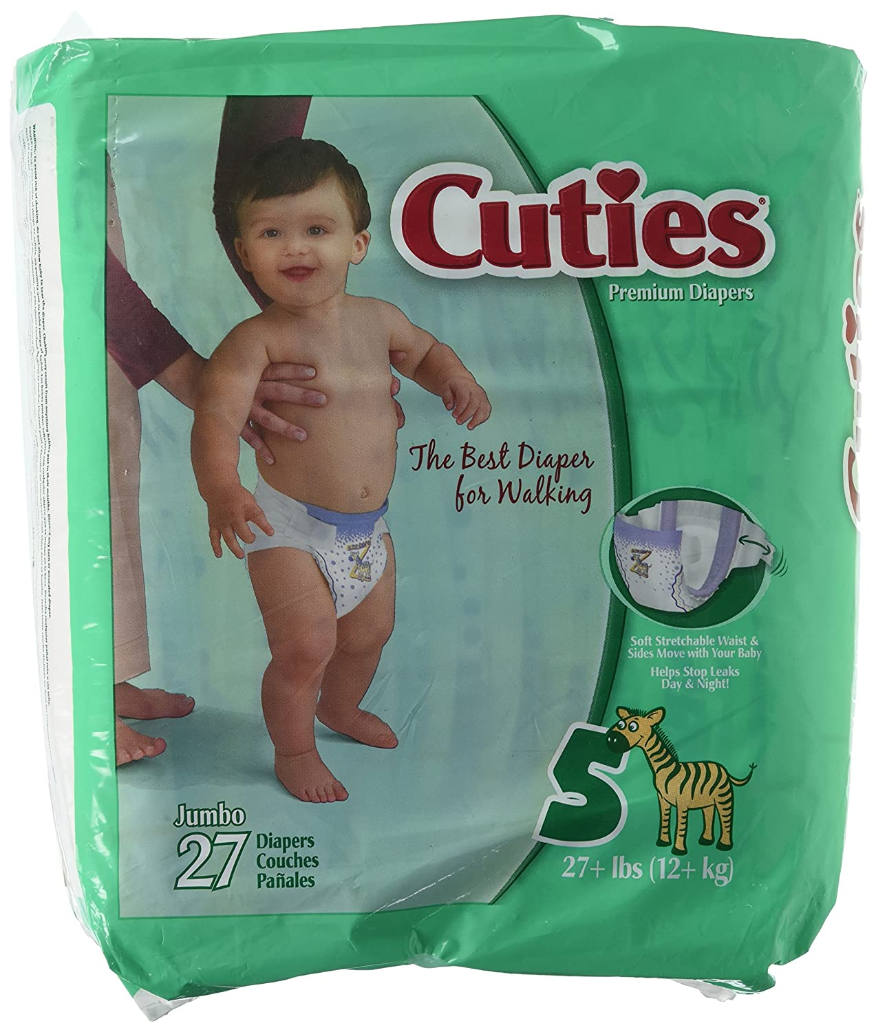 Amazon.com: Cuties - CR1001 - Prevail Cuties Baby Diapers Size 1, 8-14 lbs.: Health & Personal Care