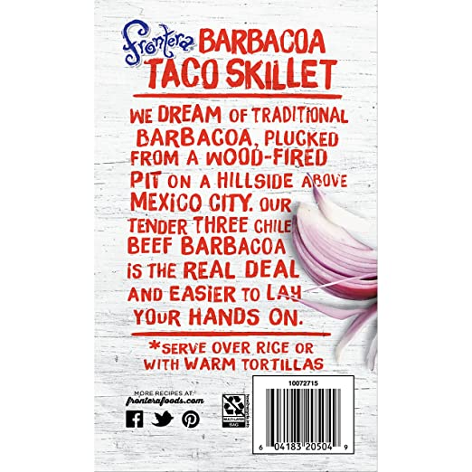 Frontera Barbacoa Taco Skillet, 20 oz (frozen): Amazon.com: Grocery & Gourmet Food