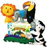 Wild Friends Safari Sewing &Craft Kit - Zebra, Toucan, Alligator, Elephant, Lion