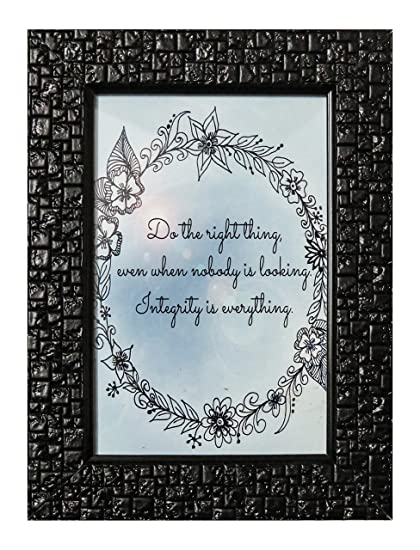 Tabletop art frames office decor framed quotes (4X6 CM): Amazon.in ...