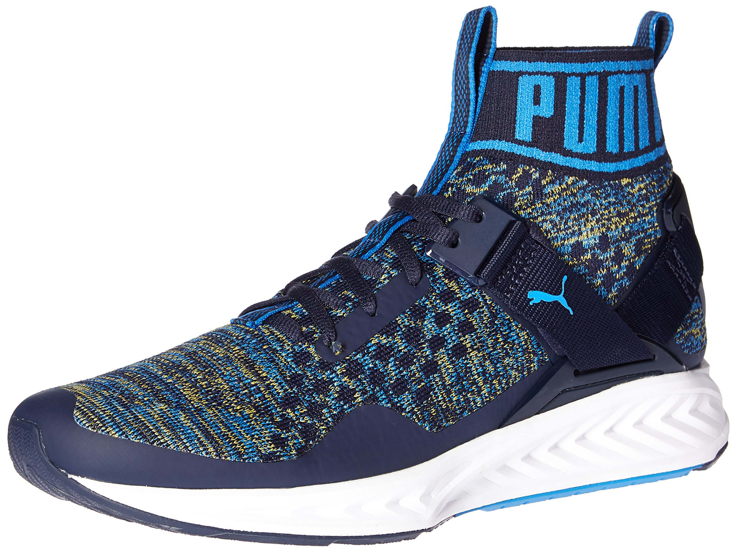 PUMA Men's Ignite Evoknit Cross-Trainer Shoe, Peacoat-French Blue, 9.5 M US