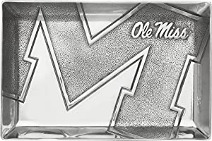 University of Mississippi Catch All Tray Arthur Court Designs Aluminum 9 inch Long
