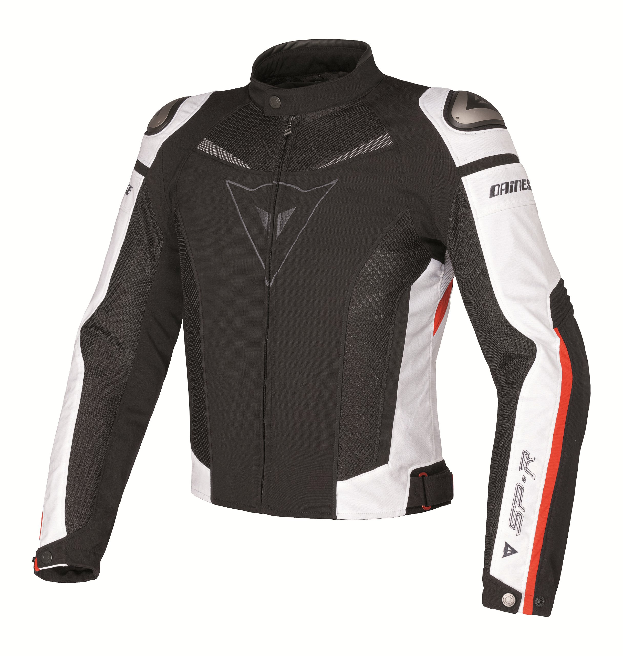 Dainese Super Speed Tex Textile Jacket (Euro 60/ US 50, Black/White/Red)