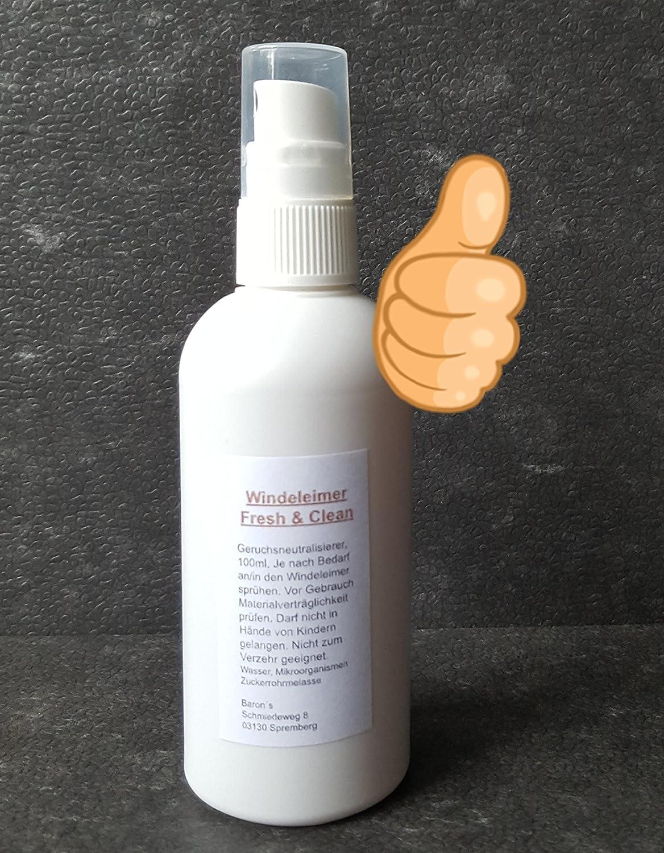 Cubo para pañales Fresh & Clean, neutralizador de olores bio Eliminador de olor olores para pañales/Cubo de basura - Cubo de basura, residuos orgánicos: ...
