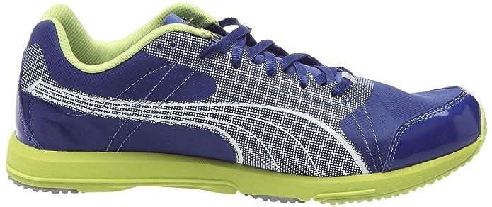 Puma Faas 200 Bolt, Chaussures course à pied homme - Bleu/Blanc/Citron, 43 EU