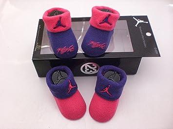 quality design d50f3 32652 Amazon.com: Nike Air Jordan Newborn Baby Booties Purple ...