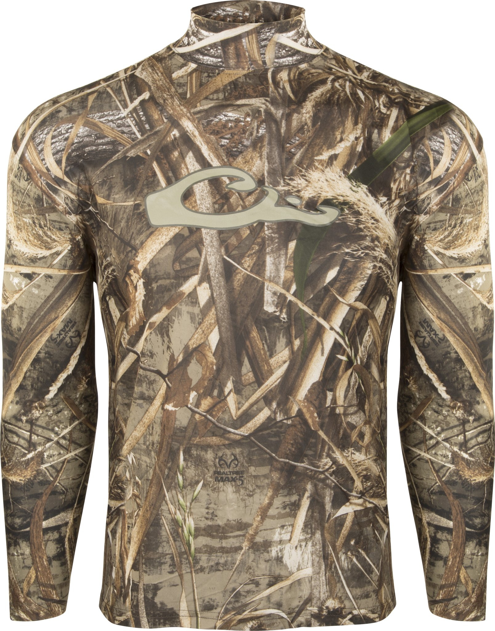 Drake Waterfowl Men's Performance Long-Sleeve Crew Tee Realtree Max 5 (L) by Drake
