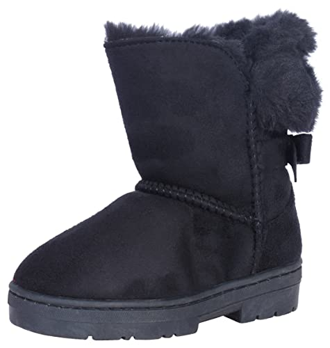 54bb3eadccfb8 bebe Girls' Faux Fur Lined Winter Boots with Back Bow (Toddler/Little  Kid/Big Kid)