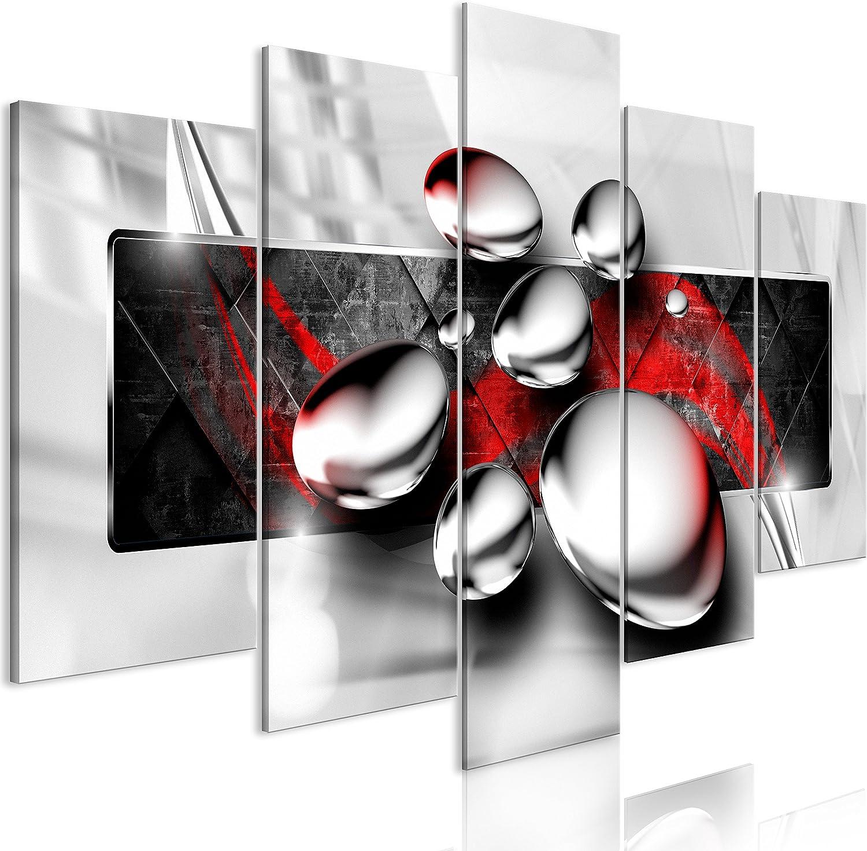 murando - Cuadro en Lienzo Efecto 3D 200x100 cm Impresión de 5 Piezas Material Tejido no Tejido Impresión Artística Imagen Gráfica Decoracion de Pared Abstracto a-A-0354-b-n