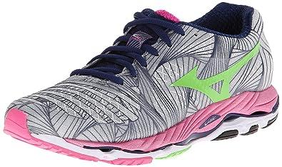 Mizuno Womens Wave Paradox Running ShoeMicro ChipGreen  FlashElectric115