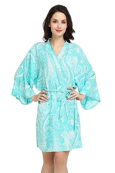 Modern Celebrations Aqua Paisley Robe 205e339d8