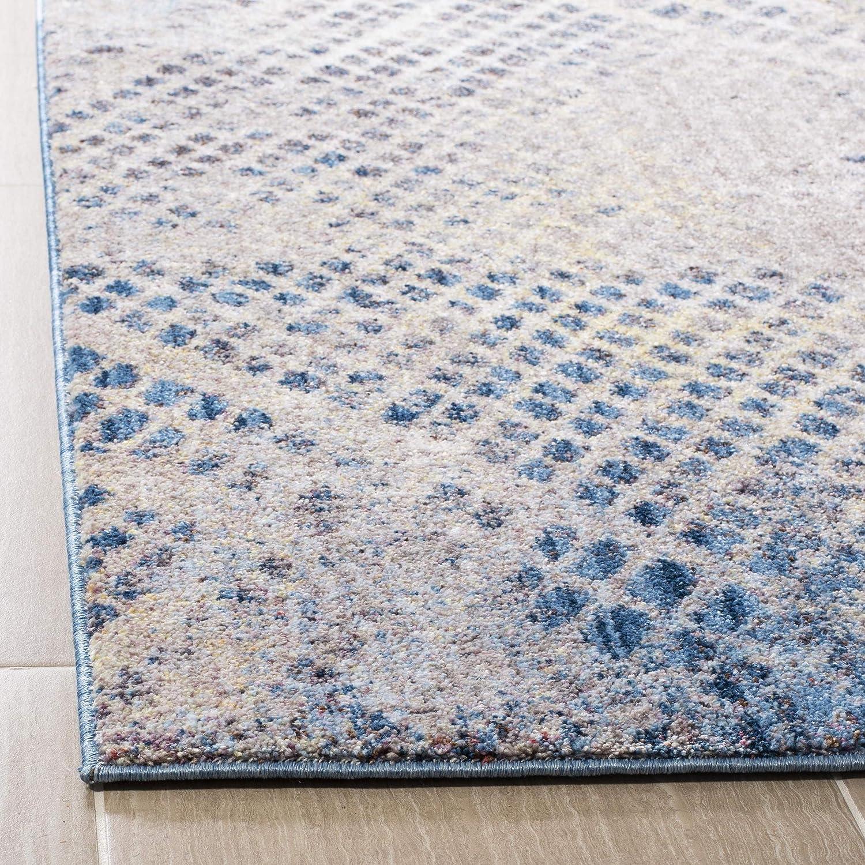 3 x 5 Safavieh Monray Collection MNY656E Blue and Multi Area Rug MNY656E-3