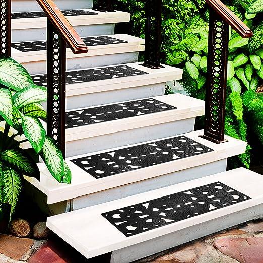 Semi-Lote de 5, diseño de casa pura ® para escaleras exteriores/modelo Neu Dehli, resistentes a la intemperie, de caucho resistente/clase design: Amazon.es: Hogar