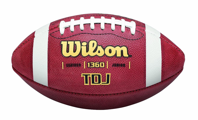 Wilson TDJ Junior Leather Game Football WTF1360