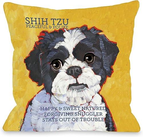 One Bella Casa Shihtzu 4 Pillow, 20 by 20-Inch