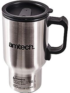 Am-Tech - Jarra de viaje con conector para encendedor de coche (450 ml