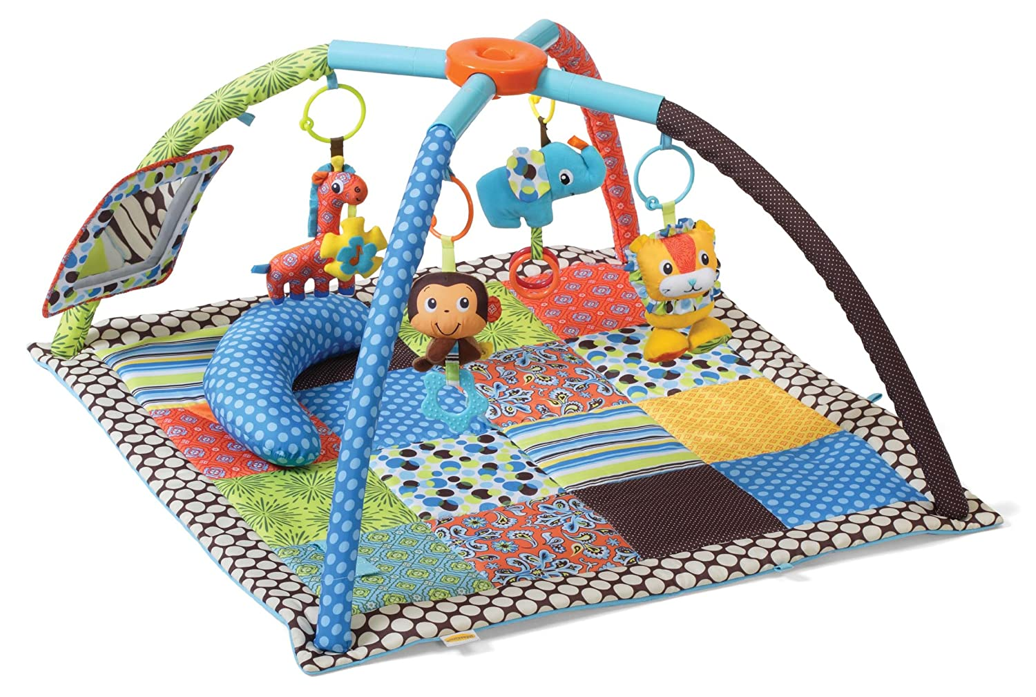 amazoncom  infantino twist and fold activity gym vintage boy  - amazoncom  infantino twist and fold activity gym vintage boy  earlydevelopment playmats  baby