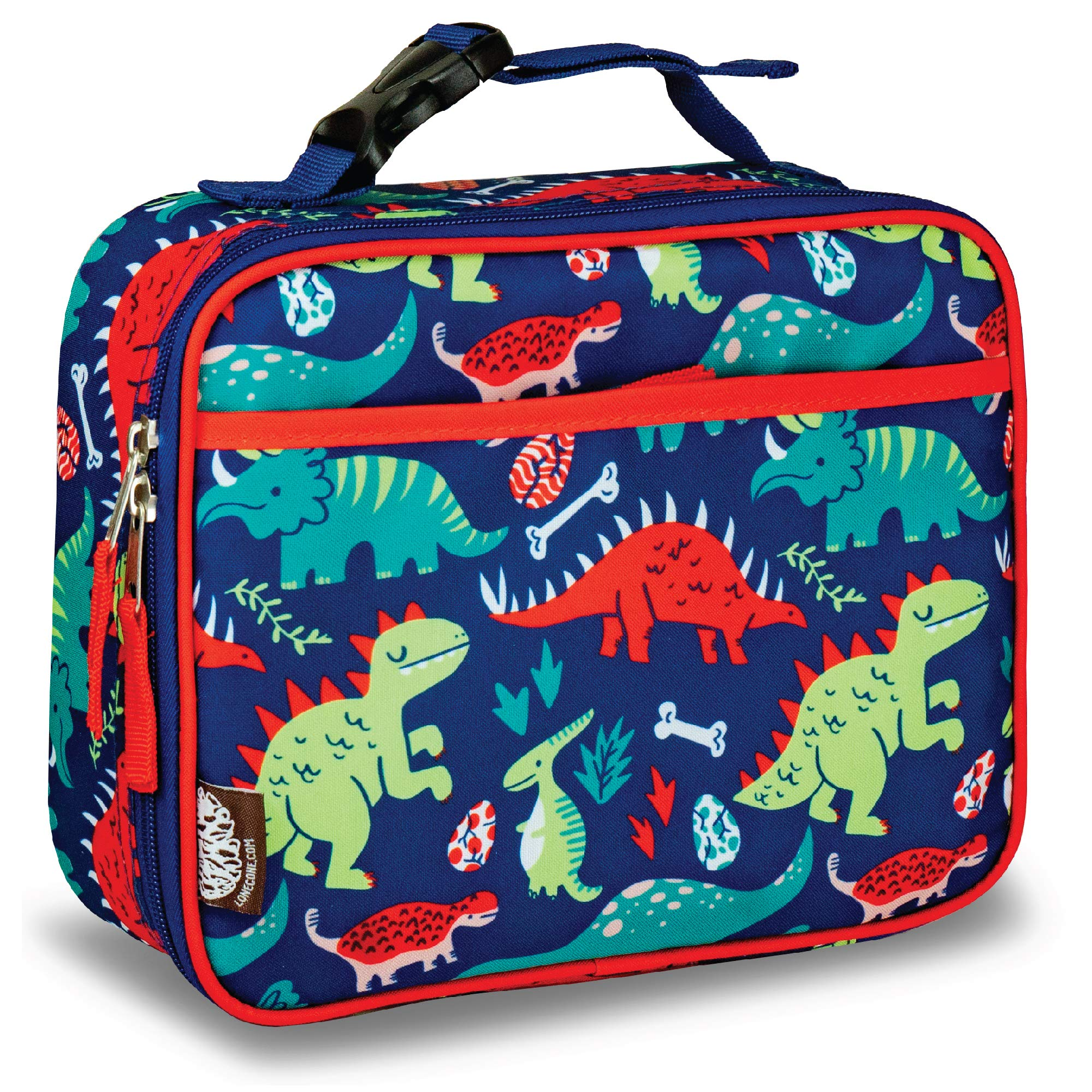 LONECONE Kids' Insulated Lunch Box - Cute Patterns for Boys and Girls, Snack-O-Saurus, Standard with Buckle by LONECONE