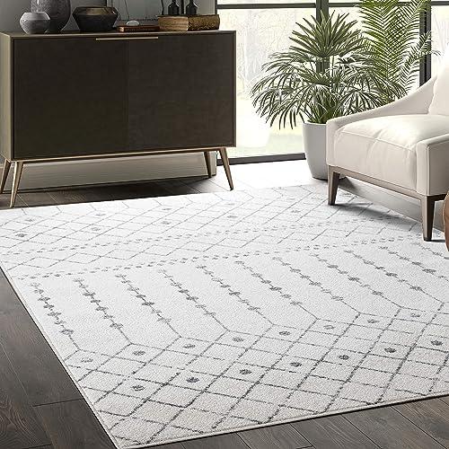 Abani Rugs Grey Ivory Trellis 4'x6' Area Rug