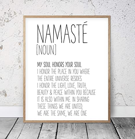 Namaste Sigh Inhale Exhale Prinst Gift Namaste Wall Art Namaste Printable Inhale Exhale Namaste Art print set of 2 Art Print set boho