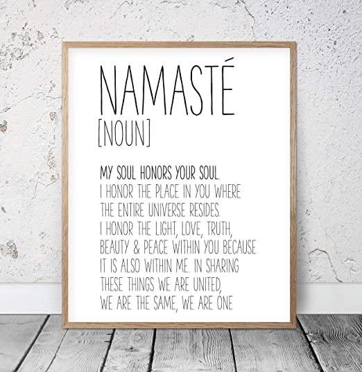 Yoga theme range of prints namaste glossy premium quality 13x18 cm prints