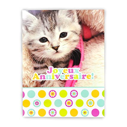 afie mx-3003 gran tarjeta maxi A4 cumpleaños feliz - gatito ...