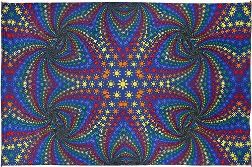 Sunshine Joy 3D Twisted Suns Tapestry Tablecloth Wall Art Beach Sheet Huge 60×90 Inche