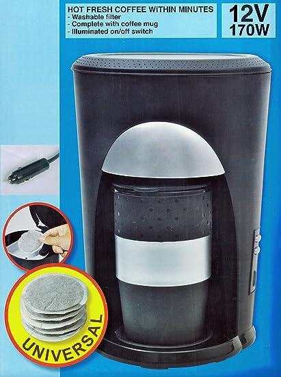 Cafetera eléctrica para 1 taza 12 V/170 W padmas chino Café Pad Taza Automóviles Caravan 72: Amazon.es: Coche y moto