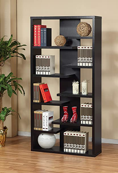 Major Q Modern Contemporary Design 71quot H Wooden Display Cabinet Bookshelf Bookcase Diaplay Stand