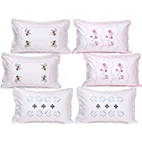 "Rj Products Cotton 6 Piece Pillow Covers - 18"" x 28"""