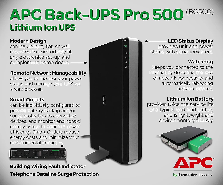 Amazon.com: APC BG500 APC Back-UPS Pro 500: Home Audio & Theater