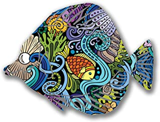 product image for Next Innovations Steel Angel Fish Wall Decor, Seascape