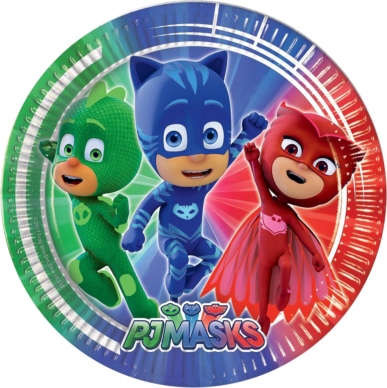 Procos-88631 Pj Masks Placas, color azul/rojo/verde (Ciao Srl 88631)