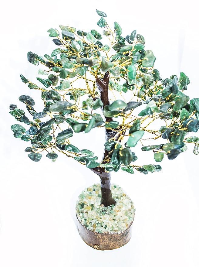 Grüne Aventurin Stein Baum Reiki Bonsai spirituelle Tisch Dekor Edelsteine